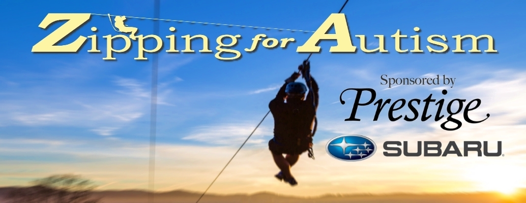 Zipping for Autism Sponsored by Prestige Subaru
